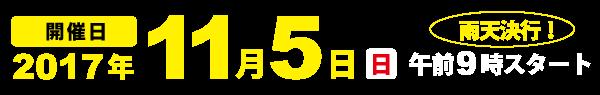 開催日 2017年11月5日(日)午前9時スタート